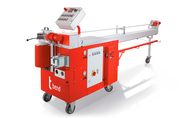 Compact mandrel bending machines